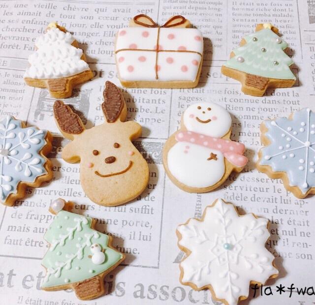クリスマス・アイシングクッキー